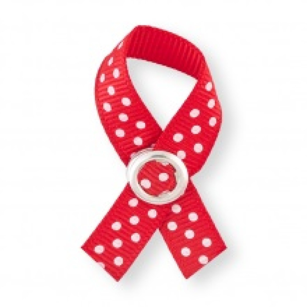 BoobyTag Gloria, rood met witte stippen