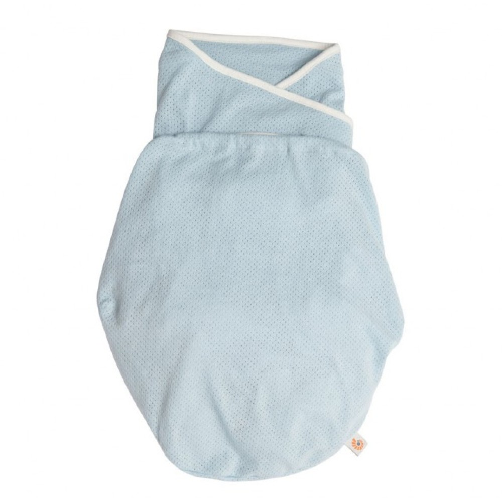 Inbakerdoek (Ergobaby Swaddler) Light Weight Blue
