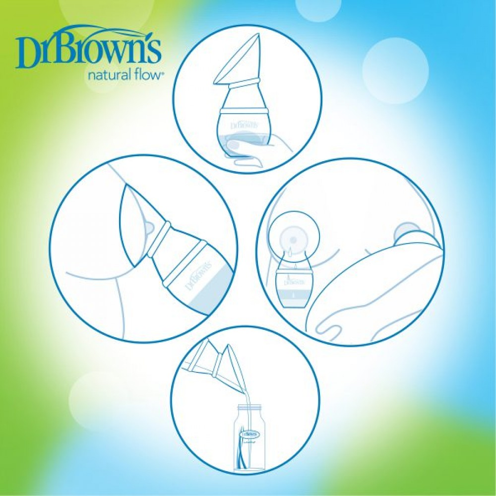 Dr. Brown's Milkflow One-Piece Siliconen Borstkolf
