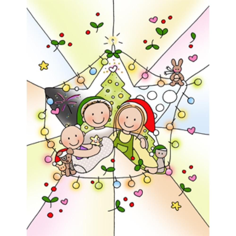 Kaart Kerst fonkelen    Borstvoeding Goedkope Goedkoop Kaarten