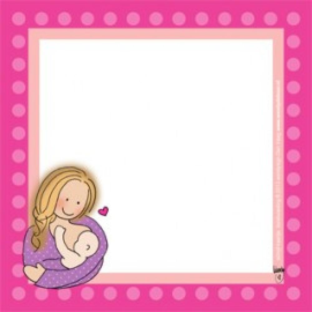Schrijfkaartje 'borstvoeding' Borstvoeding Goedkope Goedkoop Kaarten
