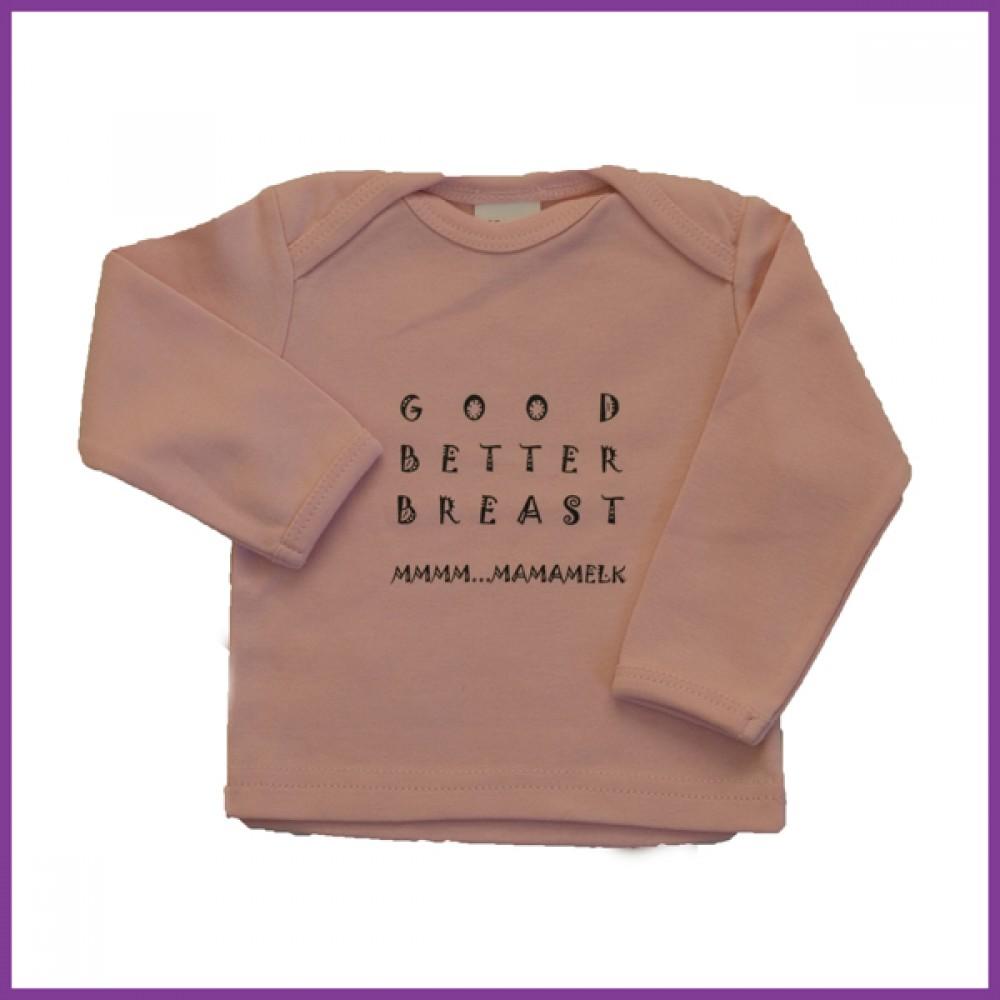 Longsleeve GBB roze 92 overslaghals 18-23 mnd Borstvoeding Goedkope Goedkoop Kinderkleding