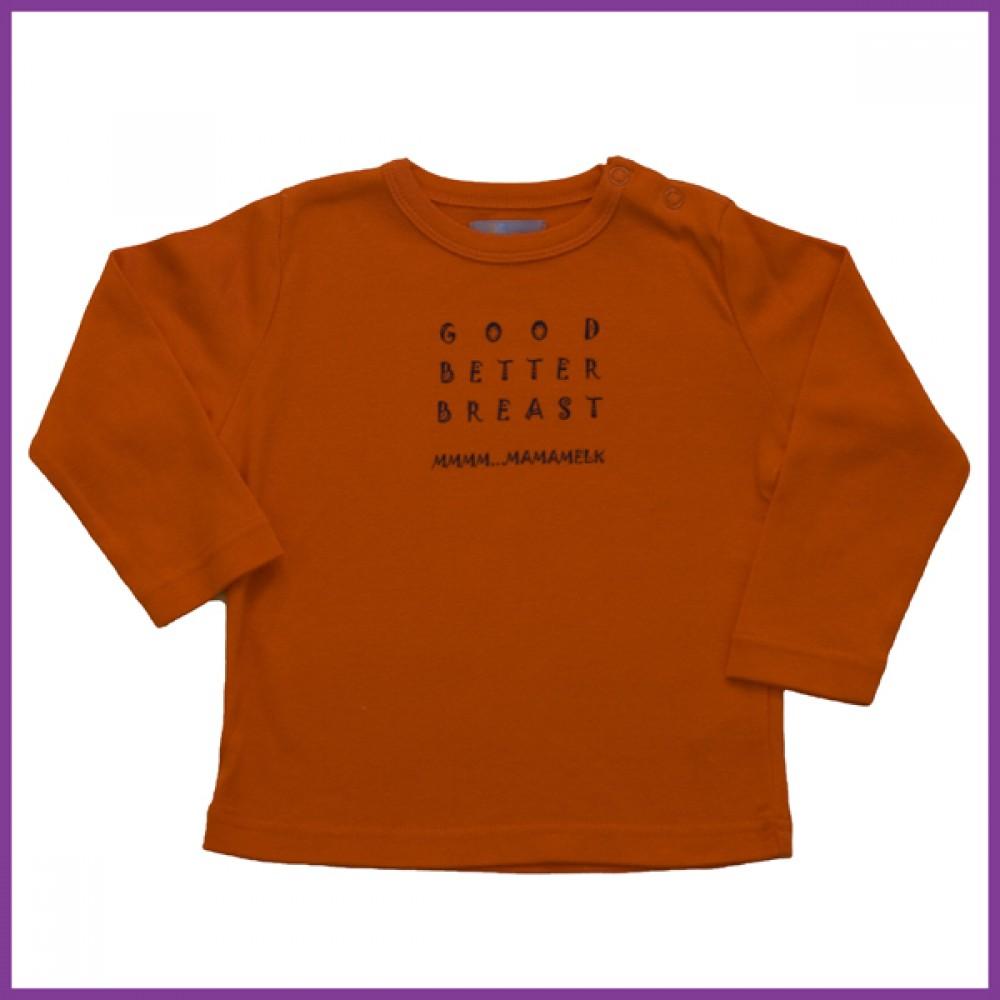 Longsleeve babe oranje Borstvoeding Goedkope Goedkoop Kinderkleding