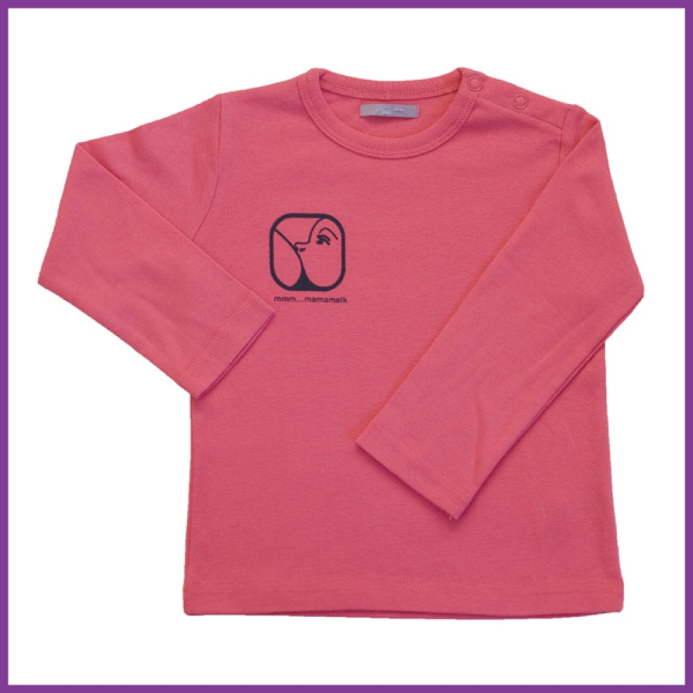 Longsleeve Nursing donker roze 86   Borstvoeding Goedkope Goedkoop Kinderkleding