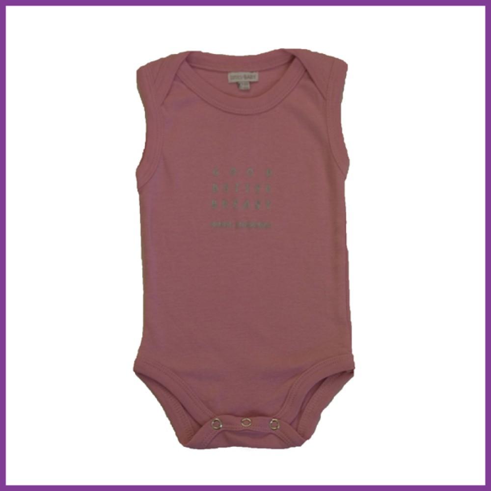 Romper met opdruk: 'Good Better Breast' roze 62/68 mouwloos Borstvoeding Goedkope Goedkoop Kinderkleding