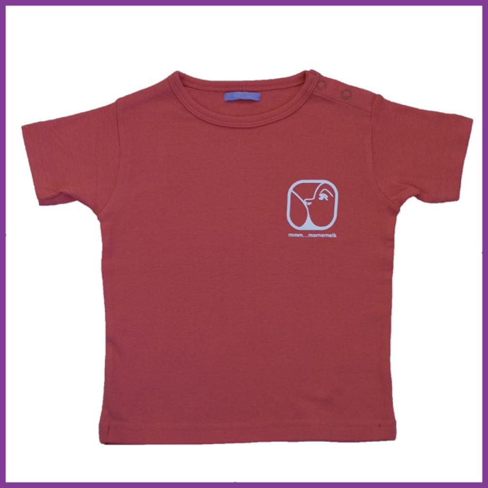 T- shirt met opdruk: nursing logo, donker roze, maat: 92 Borstvoeding Goedkope Goedkoop Kinderkleding