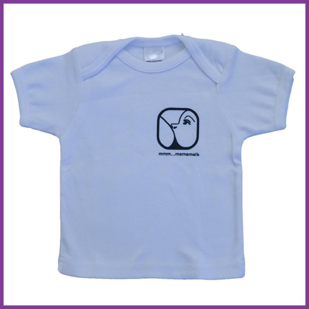 t-shirt met opdruk nursing logo, wit Borstvoeding Goedkope Goedkoop Kinderkleding