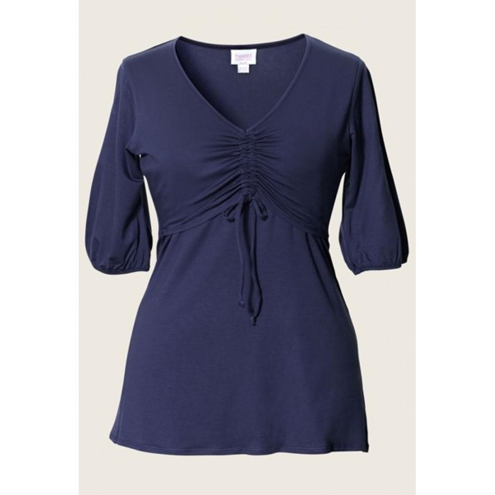 Nursing Top Salma Tuniek Soft Ink/ donker blauw Borstvoeding Goedkope Goedkoop Voedingskleding