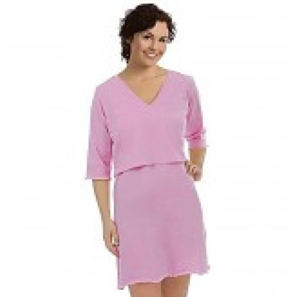 Voedingsnachthemd roze pink S/M en L/XL Borstvoeding Goedkope Goedkoop Voedingskleding