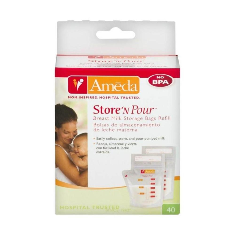Store'N Pour bewaarzakjes 40 stuks Borstvoeding Goedkope Goedkoop Bewaren Moedermelk