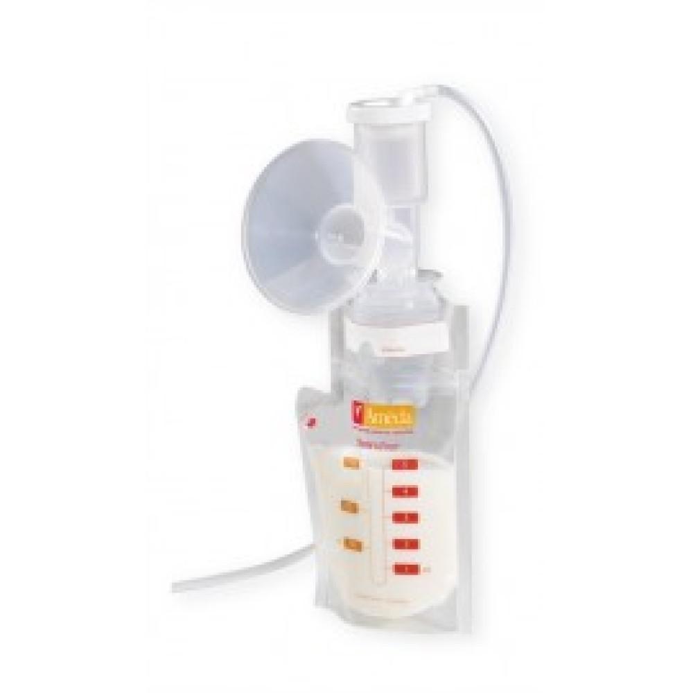 Store'N Pour bewaarzakjes + 2 adapters Borstvoeding Goedkope Goedkoop Bewaren Moedermelk