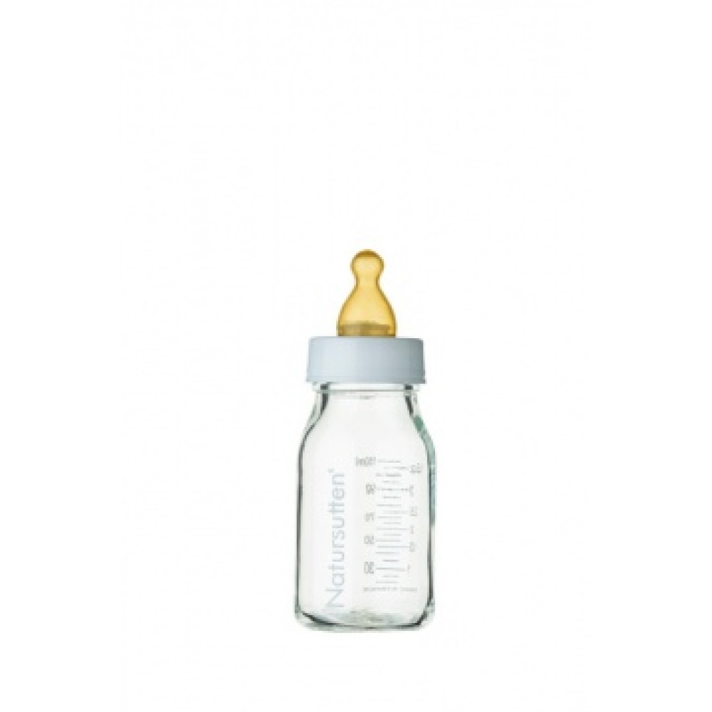 glazen babyflessen 120 ml (set van 2) Natursutten