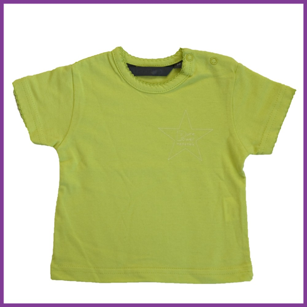 t-shirt met opdruk: 'pure power mamamelk', lime Borstvoeding Goedkope Goedkoop Kinderkleding