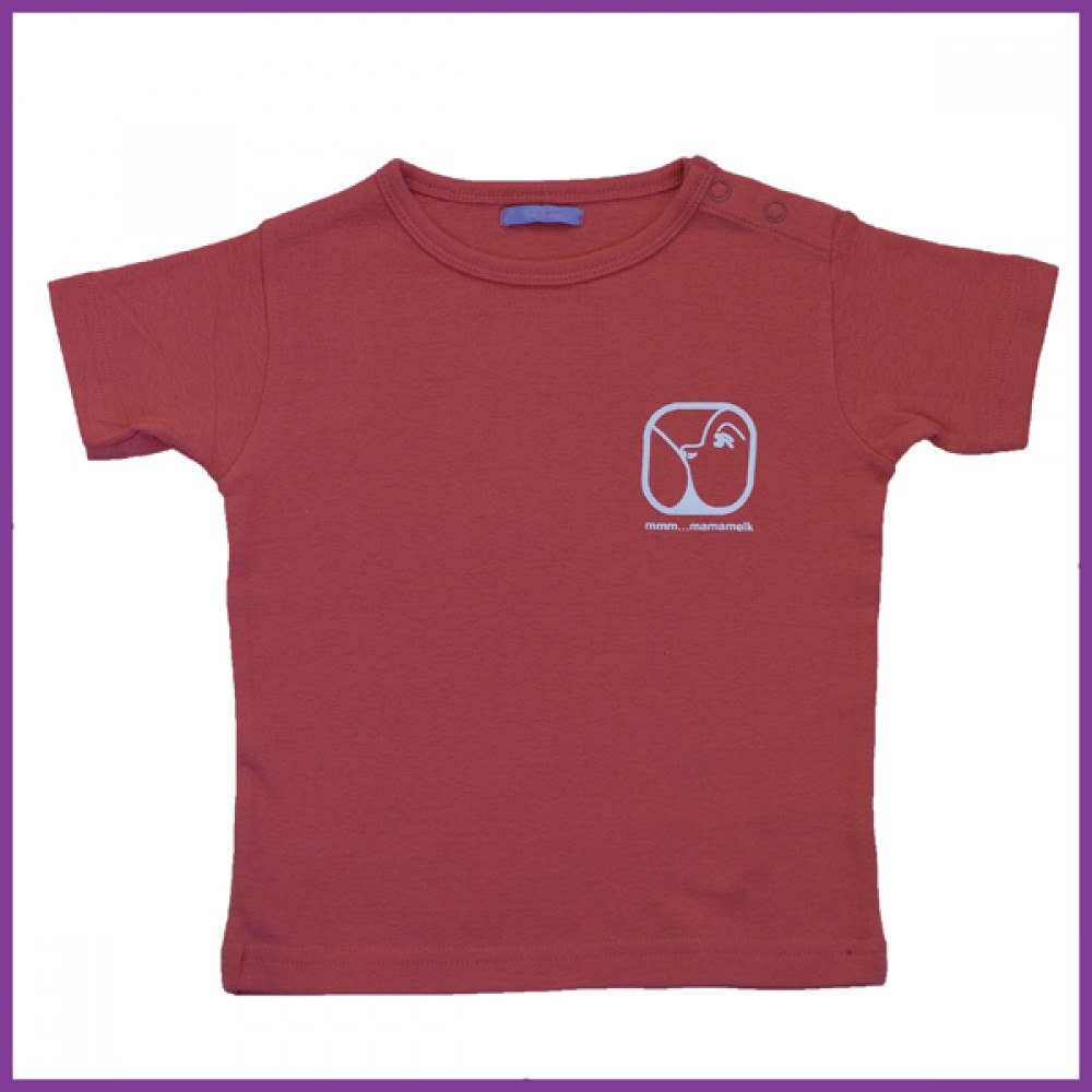 t-shirt met nursing logo, roze Borstvoeding Goedkope Goedkoop Kinderkleding