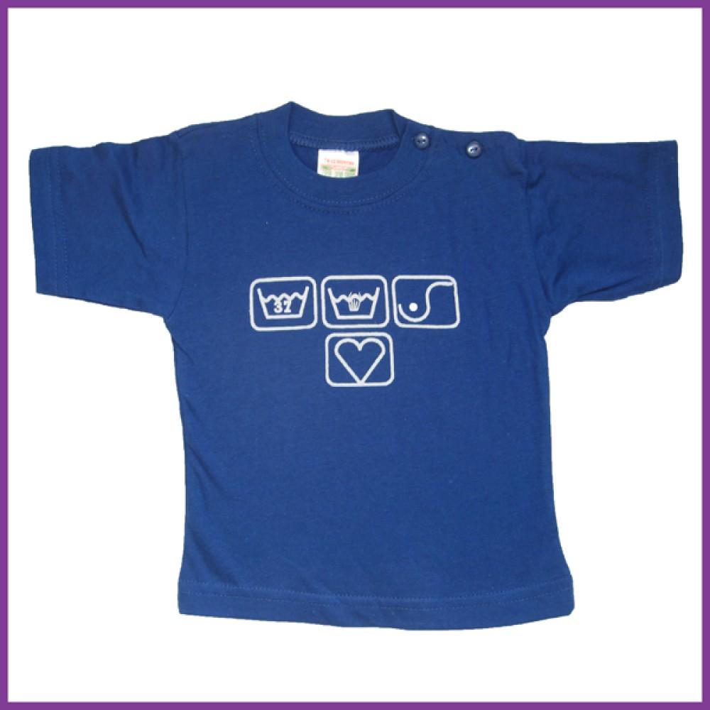 T-shirt met opdruk borstvoedings symbolen, blauw Borstvoeding Goedkope Goedkoop Kinderkleding