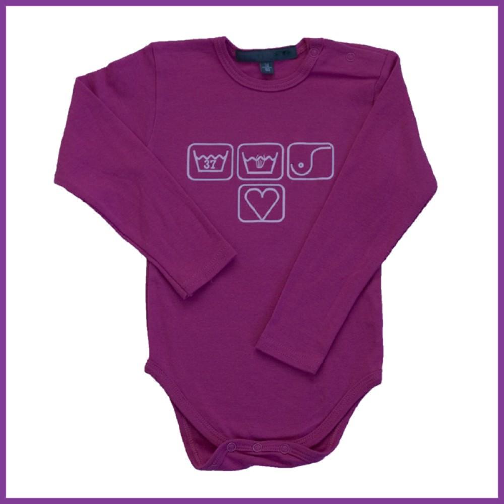 romper met opdruk: borstvoedingssymbolen hardroze Borstvoeding Goedkope Goedkoop Kinderkleding